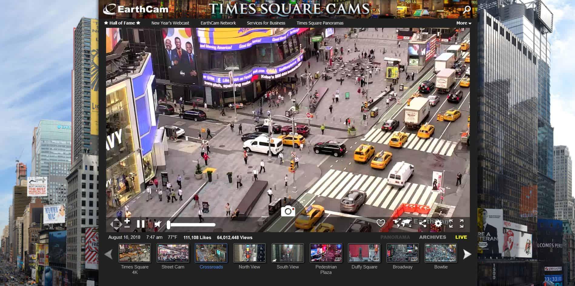 câmeras ao vivo em nova york