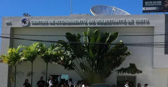 Centro de atendimento ao solicitante de visto irá suspender os serviços